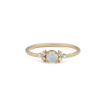 ANTIQUE ROUND OPAL RING
