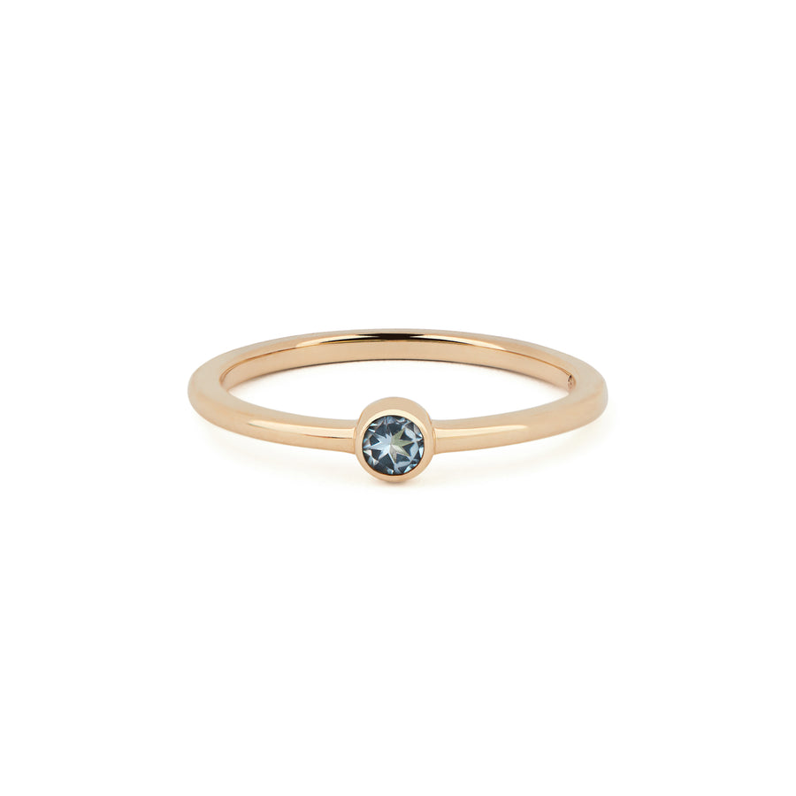 AQUA MARINE BIRTHSTONE BAND