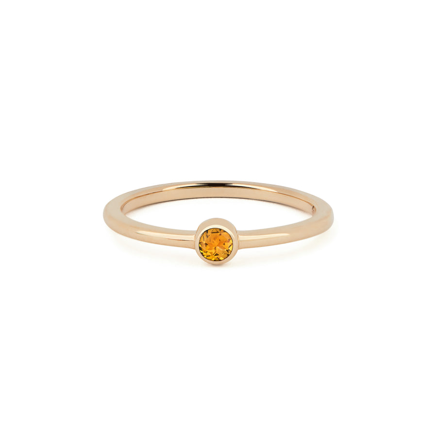 CITRINE BIRTHSTONE BAND