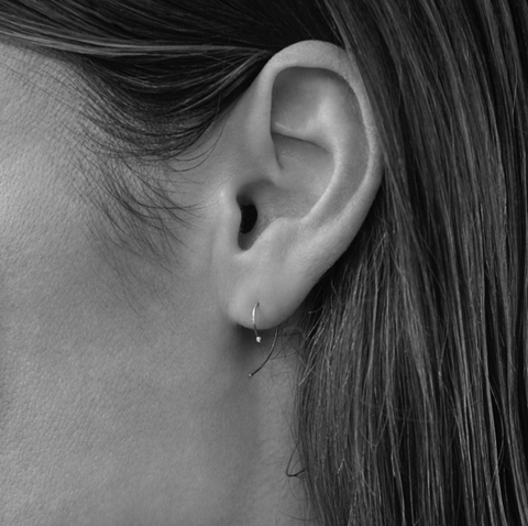 DIAMOND TIP C EARRING
