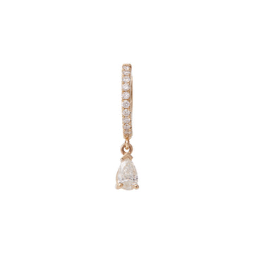 PEAR PAVE DIAMOND HUGGIE