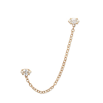 MARQUISE DIAMOND CHAIN EARRING