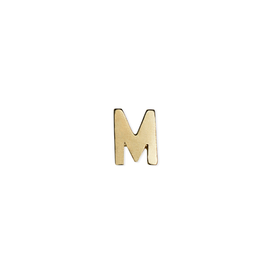 INITIAL STUDS YELLOW GOLD