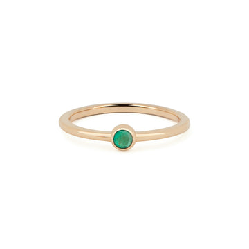 EMERALD BIRTHSTONE BAND