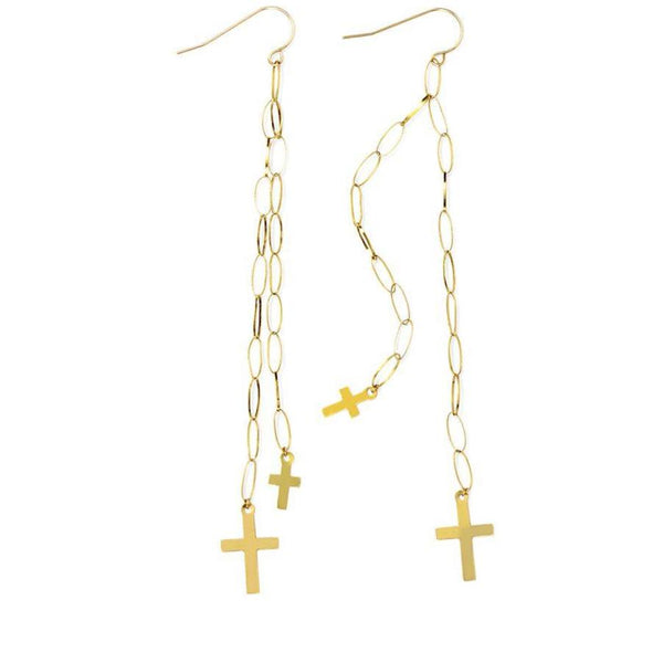 ERTH DOUBLE CROSS EARRING