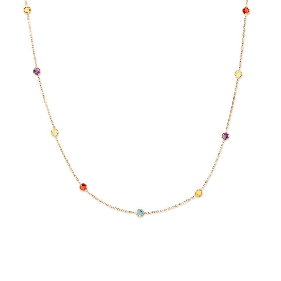 rainbow necklace product bartlett estella