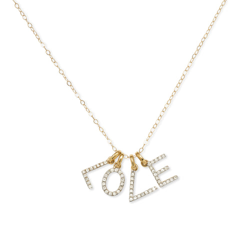 """4 LETTER"" DIAMOND INITIAL NECKLACE"