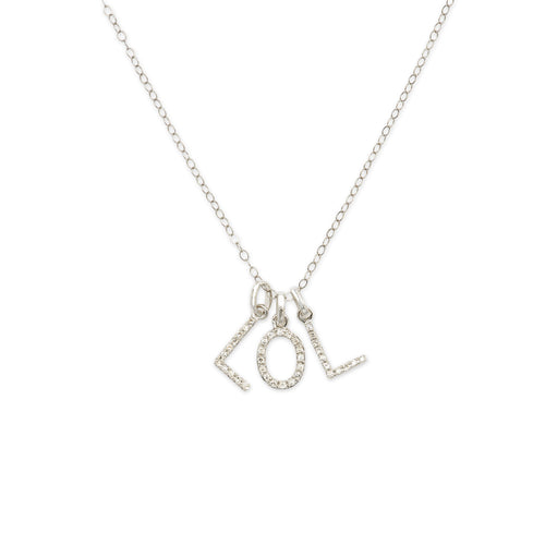 """3 LETTER"" DIAMOND INITIAL NECKLACE"