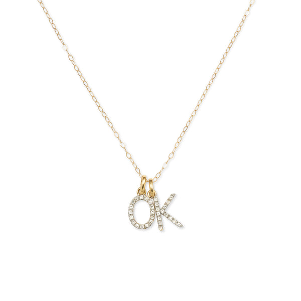 """2 LETTER"" DIAMOND INITIAL NECKLACE"