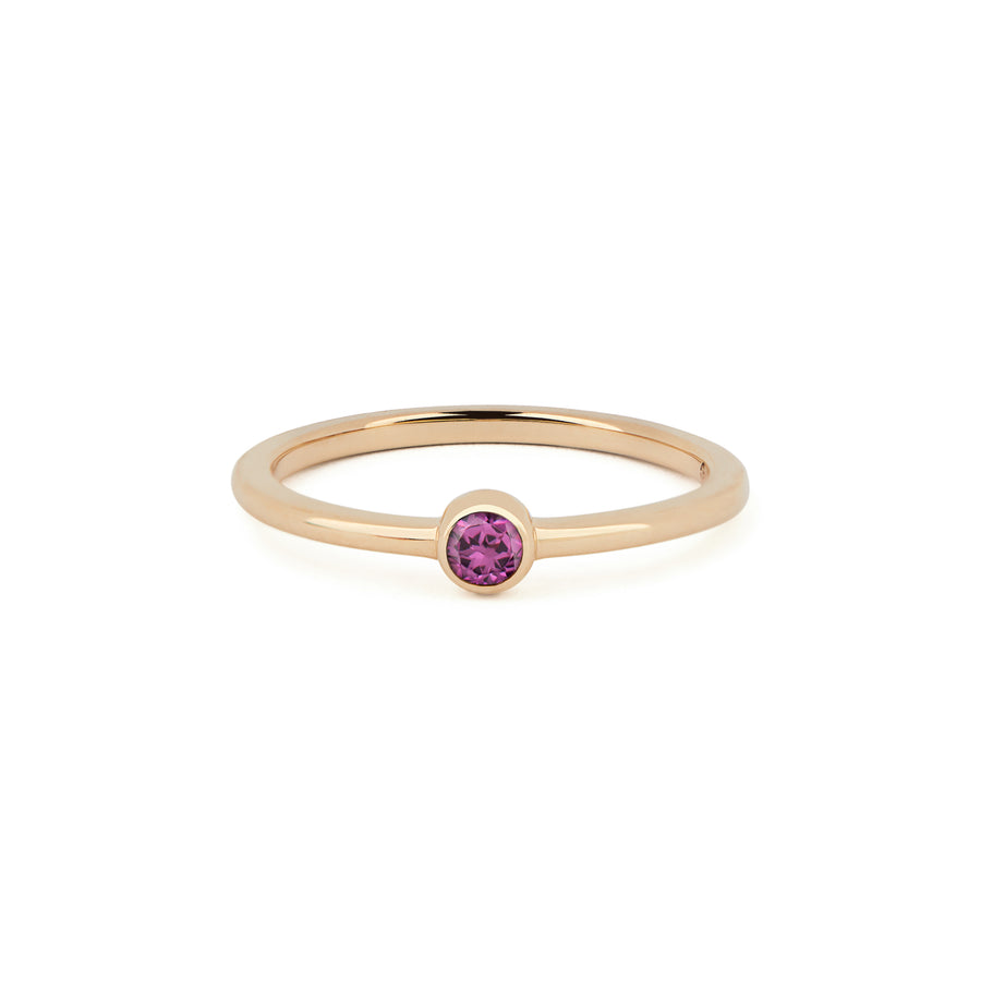 GARNET BIRTHSTONE BAND