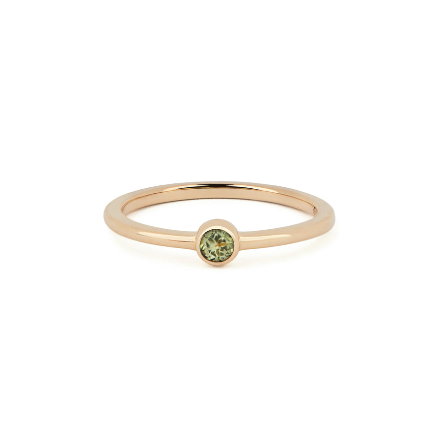PERIDOT BIRTHSTONE BAND