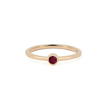 RUBY BIRTHSTONE BAND