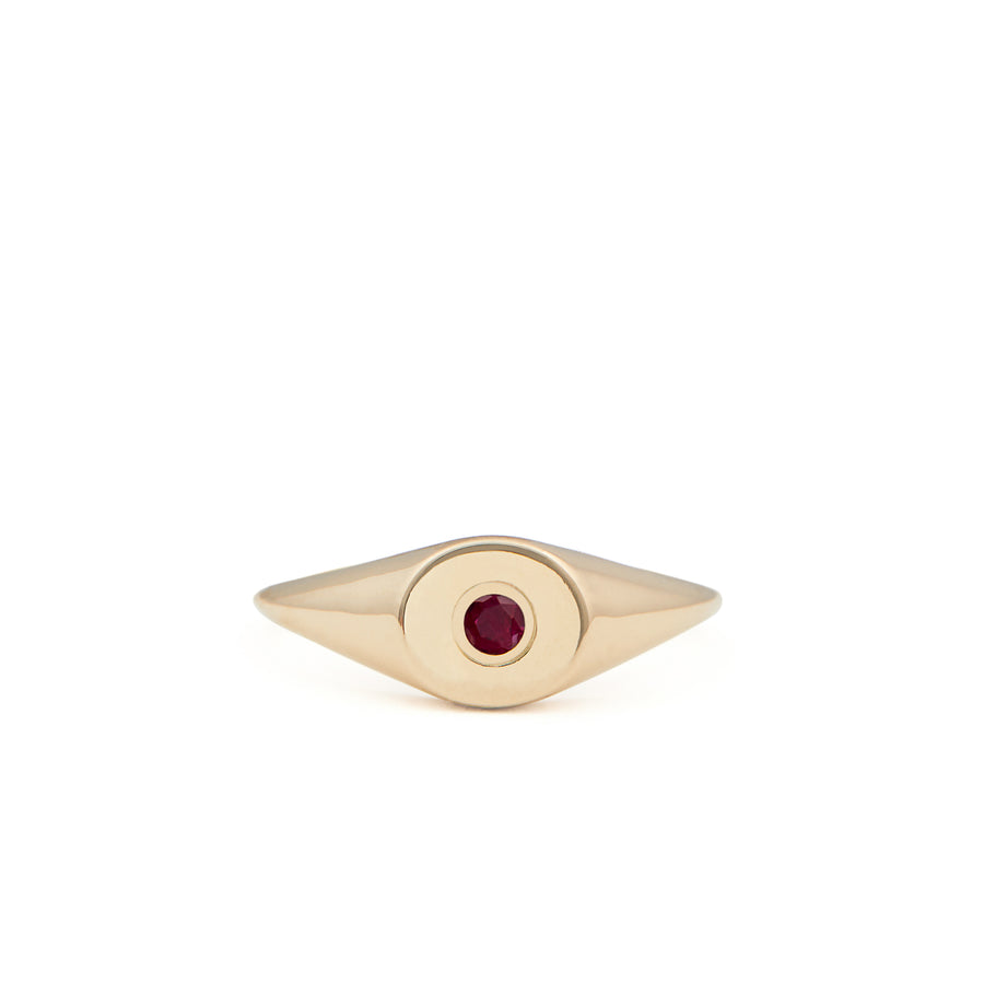 RUBY BIRTHSTONE SIGNET