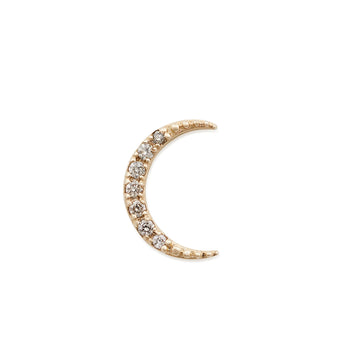 DIAMOND CRESCENT MOON STUD