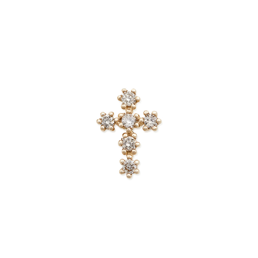 LARGE DIAMOND CROSS STUD