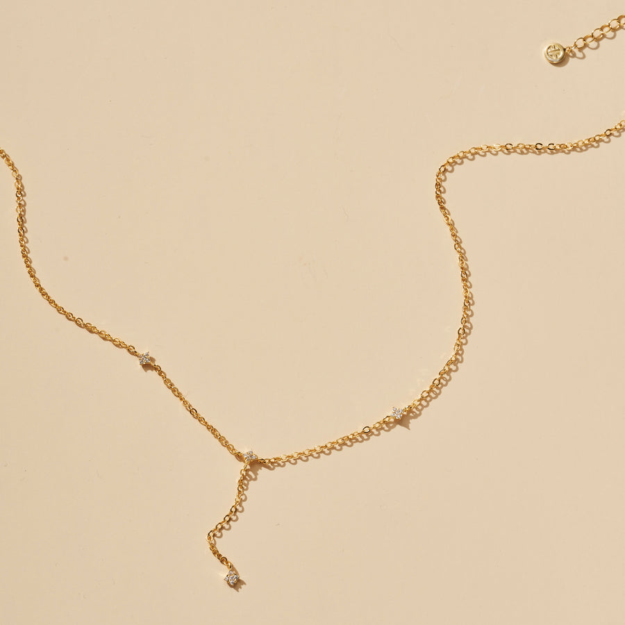 SHIMMERING STAR LARIAT NECKLACE
