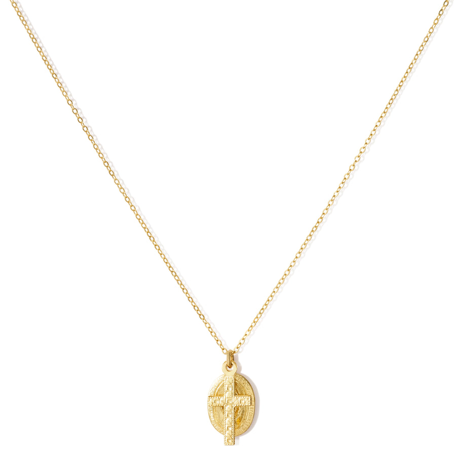 VINTAGE CROSS & MARY NECKLACE