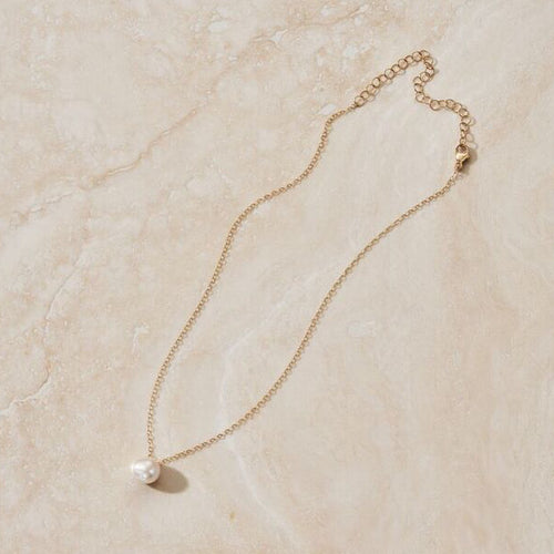 ERTH SOLO LUNA PEARL & DIAMOND NECKLACE