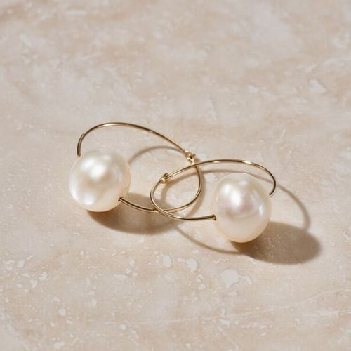 LUNA PEARL SLEEPER EARRINGS