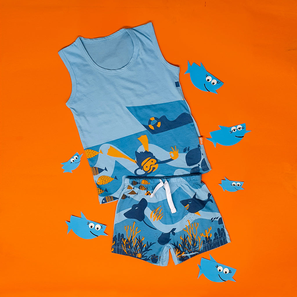 Boy Vest & Boxer Shorts
