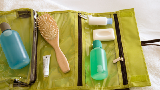 What are the essential toiletries to take with you on long journeys?