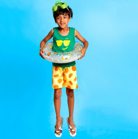 Orange Summer Shorts for Boys - shop from plan B