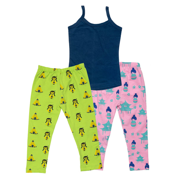 Shop Online - Girls Of The World - Set of 2 leggings and a vest