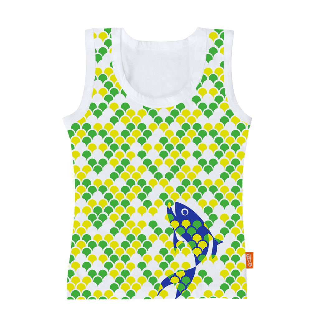 Fancy Fish - Boy Vest & Boxer Shorts