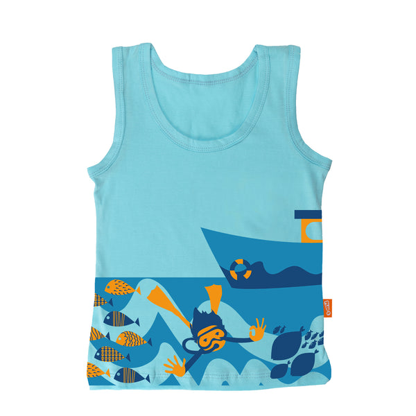 Scuba Diving - Boy Vest & Boxer Shorts
