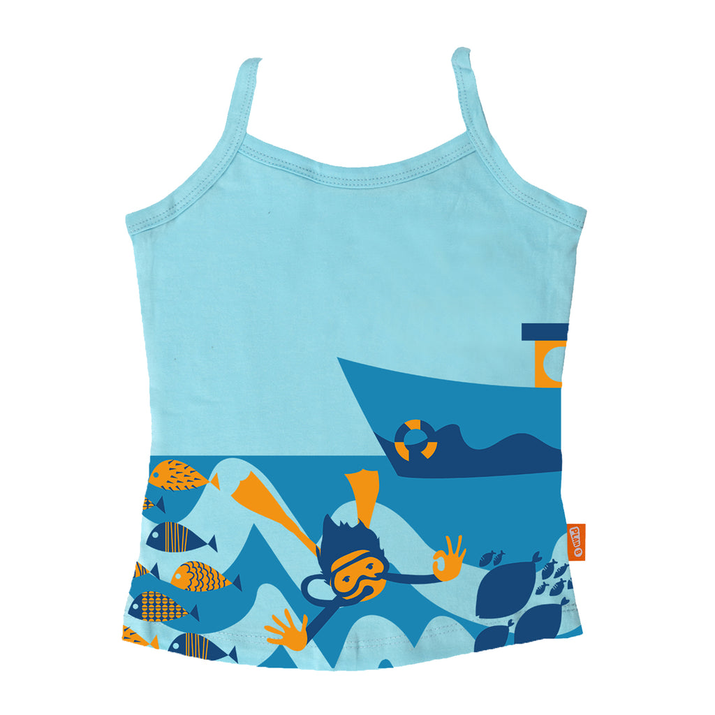 Scuba Diving - Girl Vest & Boxer Shorts