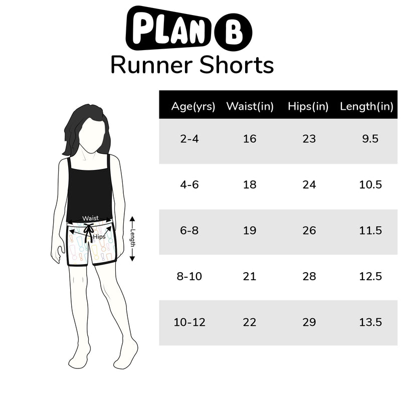 Orange Picking Runner Shorts