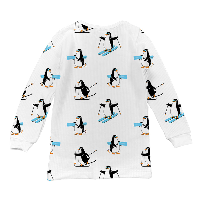 Penguin Party Full Sleeve Thermal Top