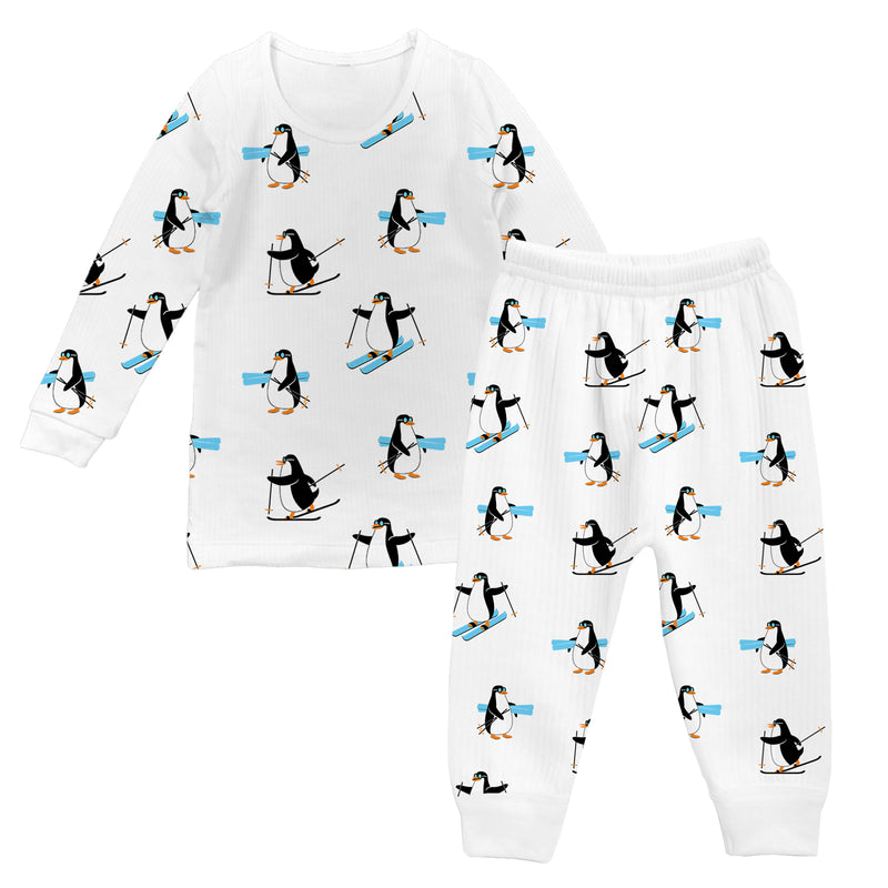 Penguin Party - Girl Full Sleeve Thermal Set