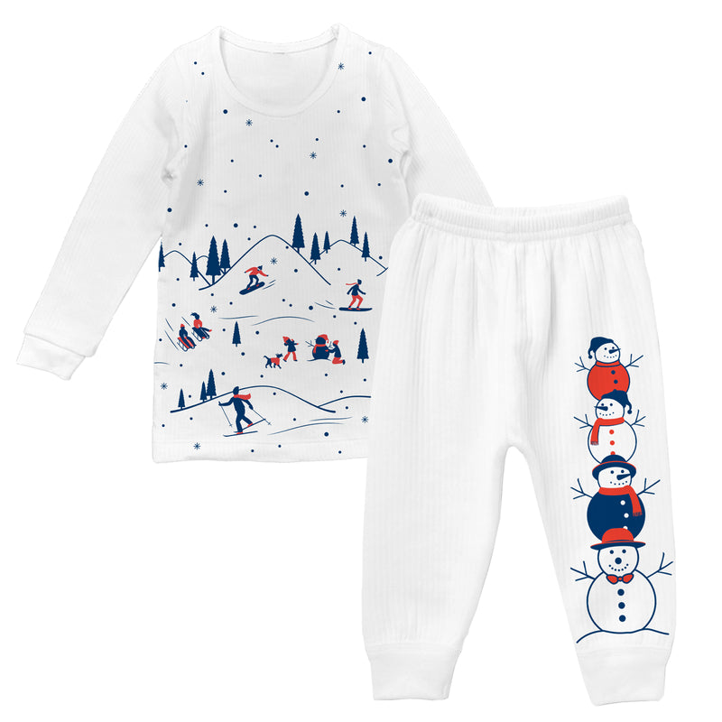 Snowbound - Girl Full Sleeve Thermal Set