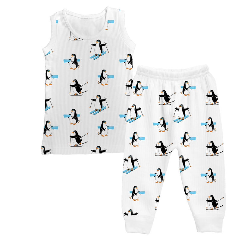 Penguin Party - Girl Sleeveless Thermal Set