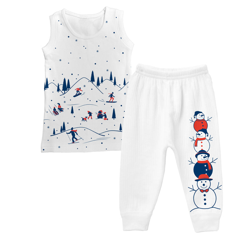 Snowbound - Boy Sleeveless Thermal Set