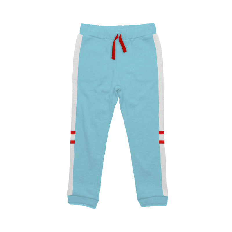Two Stripe Blue - Girl Track Pants