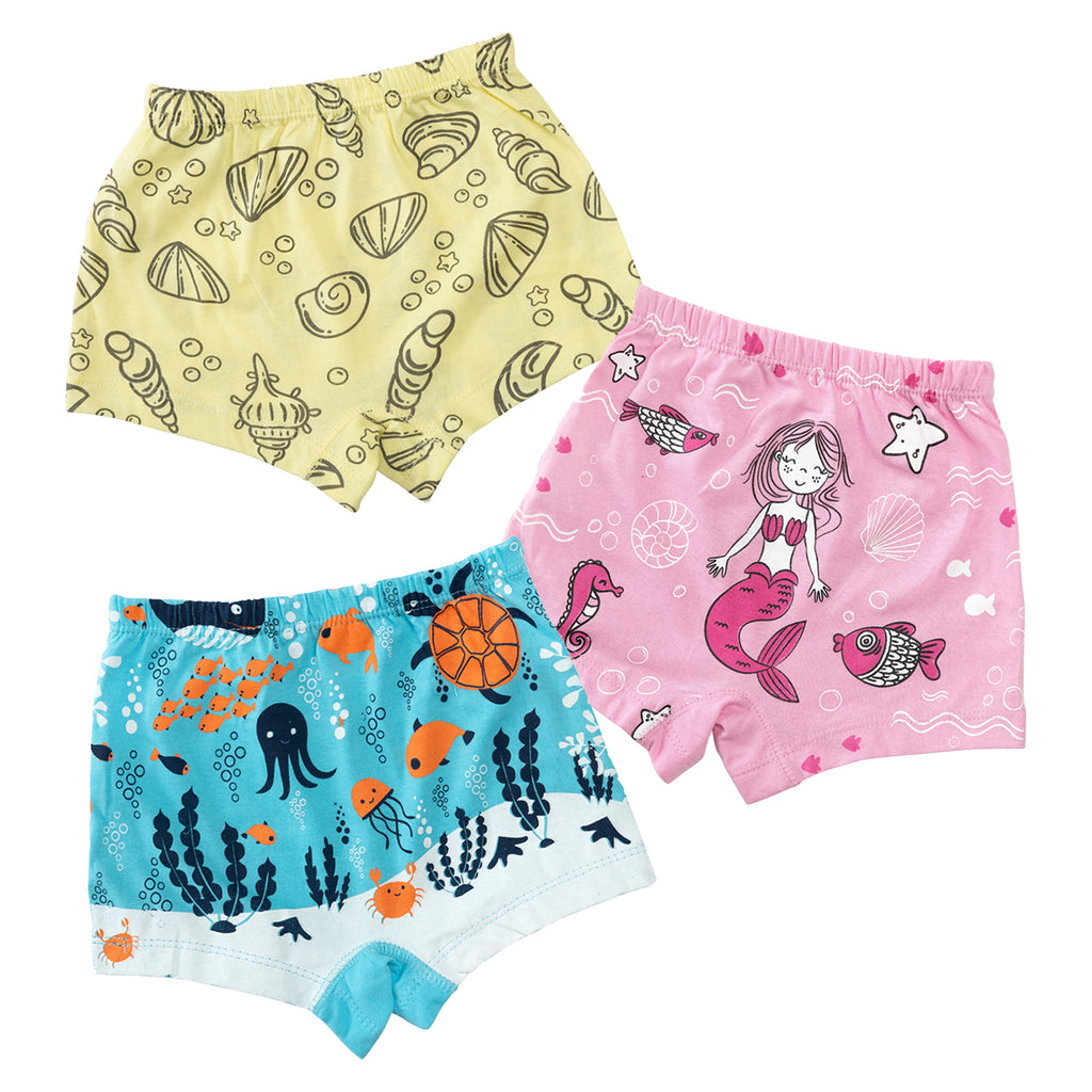 Mermaid Girls Boxer Shorts