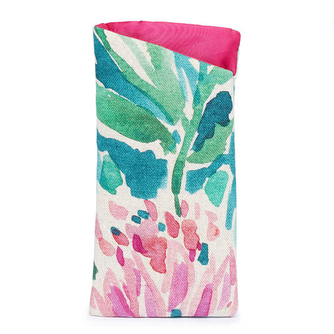 Sunglasses Pouch - Watercolour Protea
