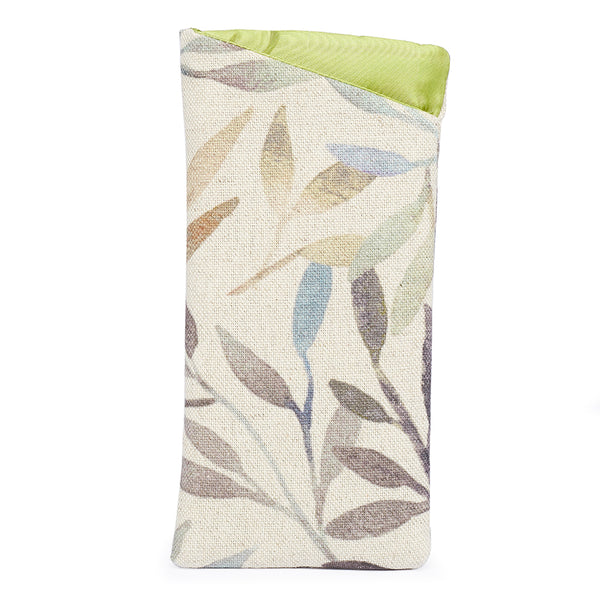 Sunglasses Pouch - Watercolour Leaf
