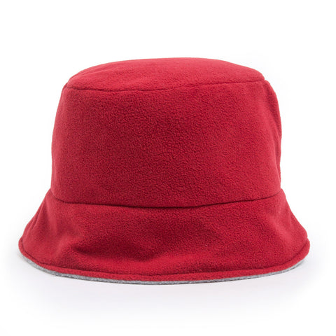 Bucket Hat - red/light grey