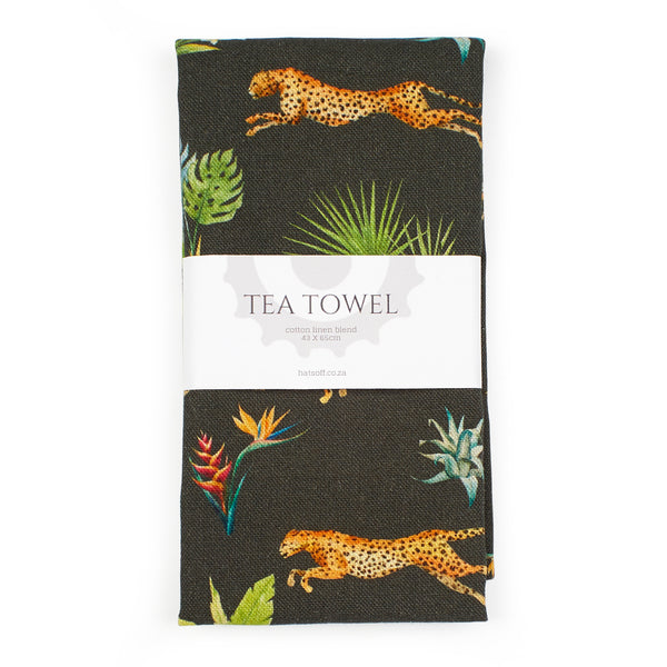TEA TOWEL - SPRINGBOK & CHEETAH
