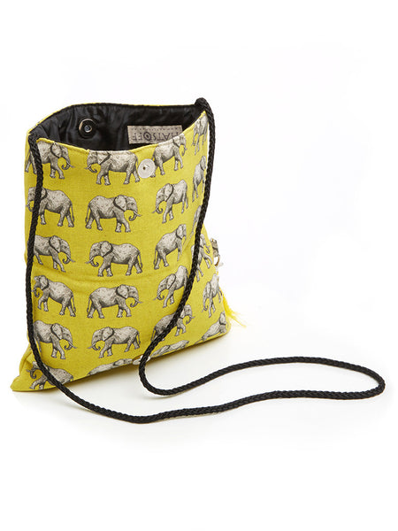 Beautiful and unique handmade clutch bag or sling bag, which forms a part of the Elephant collection from Hats Off. Made in Cape Town, South Africa