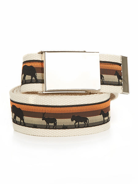Buckle Belt Animal Silhouettes