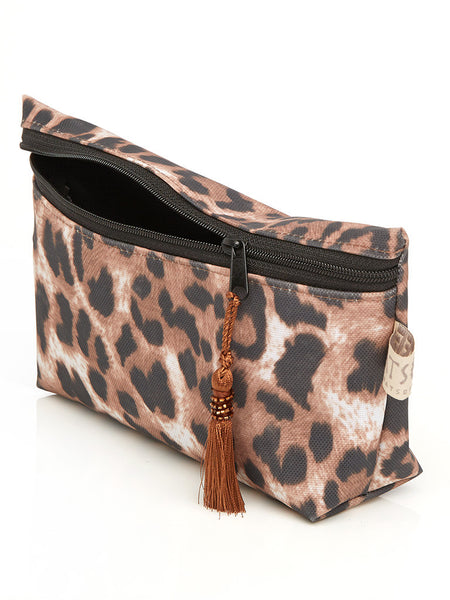Short Cosmetic Purse - Leopard Print