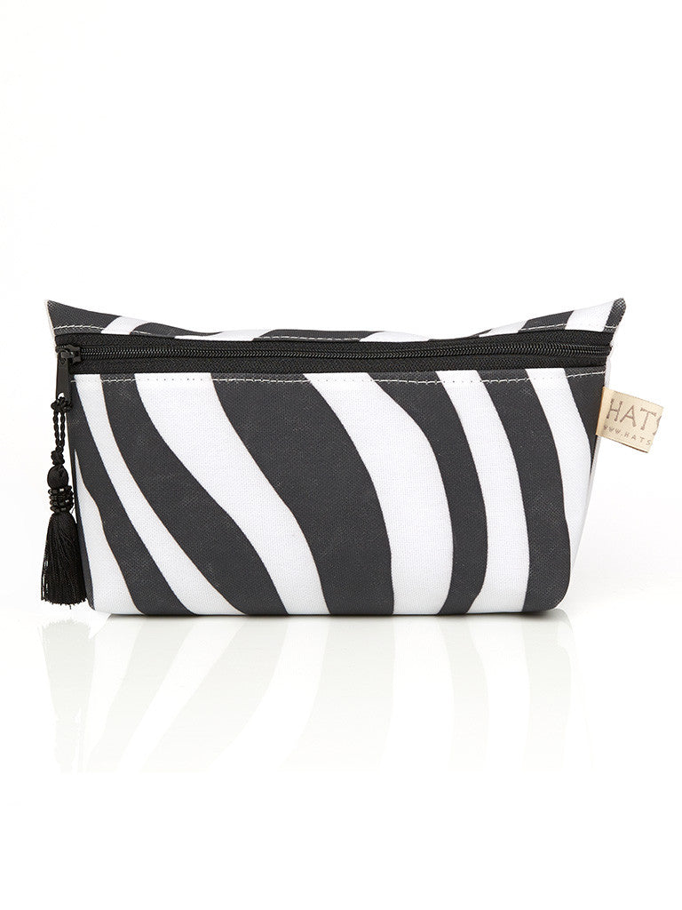 Short Cosmetic Purse - Zebra Print