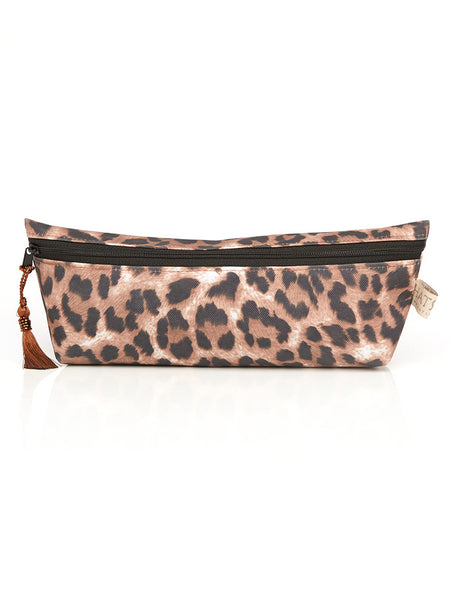 Long Cosmetic Purse - Leopard Print