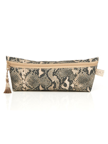 Long Cosmetic Purse - Snake Skin