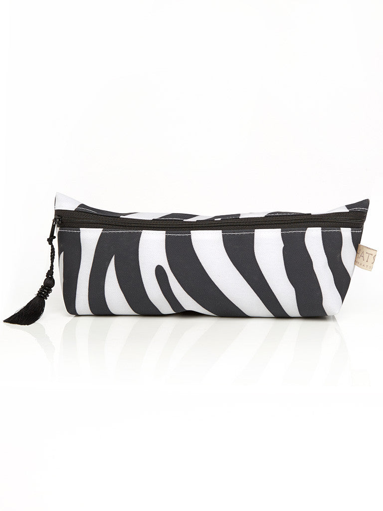 Long Cosmetic Purse - Zebra Print