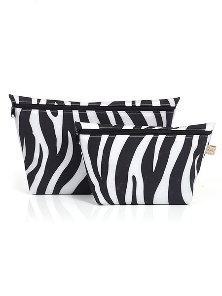 Toiletry Bag Set - Zebra Print